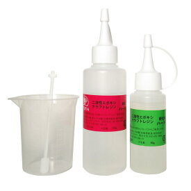 艶 二液性エポキシレジン液 【ハード】 本剤120g/硬化剤60g