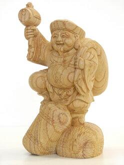 -Wood carving Daikoku-ITTO-bori carving / material: Keyaki (figurine)