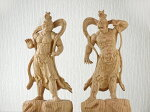 〜木彫り仏像仁王像(金剛力士)〜一刀彫/素材:欅