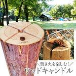 【送料無料】T-KRAFT津山銘木ウッドキャンドル(スウェーデントーチ)着火用の木くず付