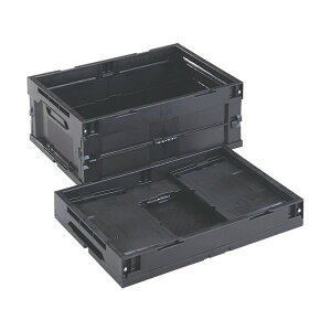 トラスコ(TRUSCO) 導電性折り畳みコンテナ30L黒 532 x 368 x 221 mm CR-S30-EA 1