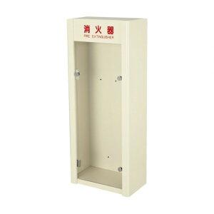 (株)満点商会 消火器ボックス 据置 壁掛 W320×H785×D180 アイボリー MHD-310IV 1台