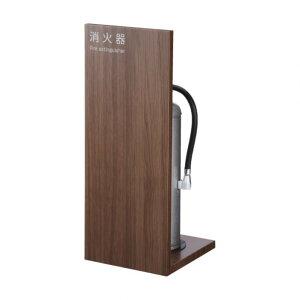 (株)満点商会 消火器ボックス 据置 W240×H600×D260 木目調 MHK-1807 1台