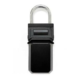 和気産業 携帯式保安ボックス錠 スペアキーボックス サイズW70×D35×H180mm・BOX内寸W62×D30×H71mm 黒 267596 1個