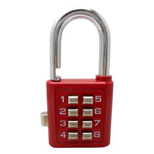 和気産業 プッシュボタンロック 35mm 赤 TW-911 1個