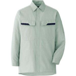 ミドリ安全 春夏ベルデクセル綿100%シャツライトグリーン4L VES 2406-UE-4L