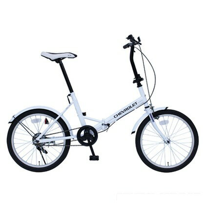 CHEVROLET 折りたたみ自転車20インチ ホワイト (組立時)149×56×105cm MG-CV20E FDB20E