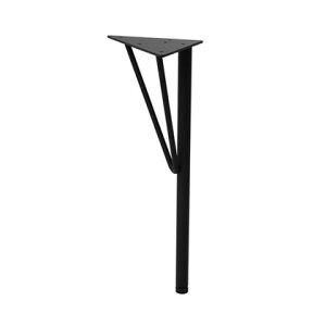 LABRICO スチールローテーブル脚 黒 幅15cm×奥行15cm×高さ37.5cm WTK-2 アジャスター付き パーツ 1本