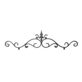 Luxiron (ラクシロン) ロートアイアン 妻飾り、壁飾り 黒色 800mm×200mm JHIT-03 ロートアイアン 妻飾り ウォールアクセサリー
