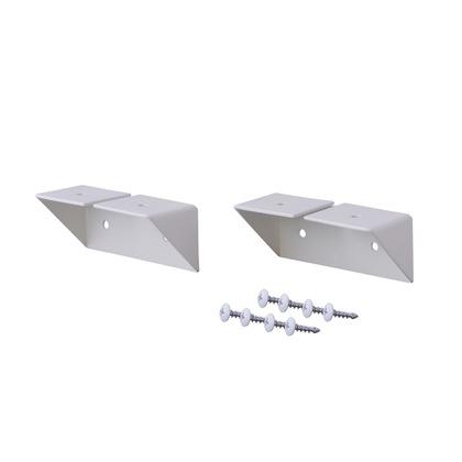 LABRICO(ラブリコ) 棚受 シェルフサポート アイアン ホワイト 幅8.6×奥行3.6×高さ3.6cm IXO-2