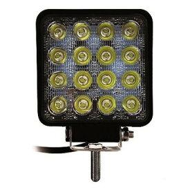 カシムラ LEDワークライト16灯 48W 黄色光 ブラック W105×H160×D43mm ML9