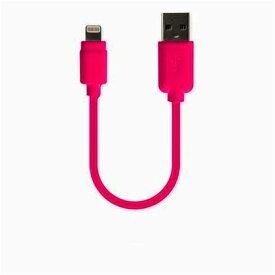 カシムラ USB充電&同期ケーブル 10cm LN ピンク W15×H38×D7mm KL65