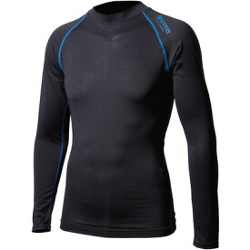 おたふく手袋 アウトラスト ロングシャツ M ブラック×ブルー 胸囲:88-96 身長:165-175 JW-540 オタフク