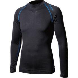 おたふく手袋 アウトラスト ロングシャツ LL ブラック×ブルー 胸囲:104-112 身長:175-185 JW-540 オタフク