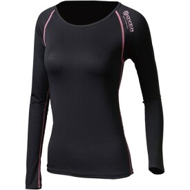 おたふく手袋 アウトラスト ロングシャツ M ブラック×ピンク 胸囲:79-87 身長:154-162 JW-539 オタフク