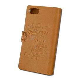 Workson WSCレザーアイフォンケース ブラウン H140mm×W80mm×D15mm iPhoneケース ミッキーマウス ディズニー