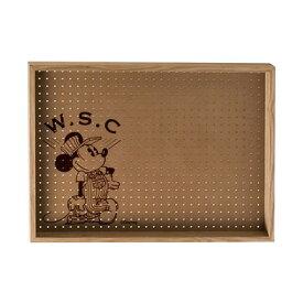 Workson WSC有孔ボードB4 ナチュラル H257mm×364mm×D100mm テープ ミッキーマウス ディズニー