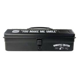 Workson WSC山型ツールボックス ブラック H100mm×W360mm×D150mm テープ ミッキーマウス ディズニー
