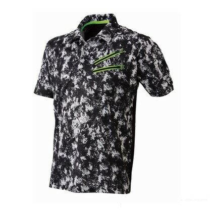 Thetough ベンチレーション半袖ポロシャツ ペイントブラック M 152-15 半袖ポロシャツ 襟ワイヤー 吸汗速乾