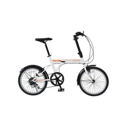 ミムゴ ノーパンク20インチ折畳自転車 6段ギア ホワイト MG-G206NF-WH ACTIVEPLUS911 ノーパンクオリタタミジテンシャ