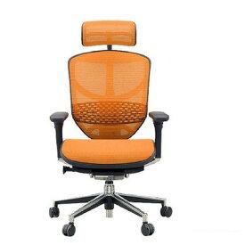 エルゴヒュ−マン エンジョイ ハイタイプ オレンジ 3Dファブリックメッシュ 幅670×奥行き660×高さ960(mm) EJ-HAM KMD-33 オフィスチェア