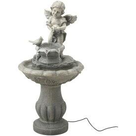 タカショー ソーラーファウンテン 天使と小鳥 約幅44cm×奥行き44cm×高さ86cm STF-02
