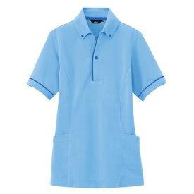 アイトス サイドポケット半袖ポロシャツ(男女兼用) 007サックス M 7668-007-M