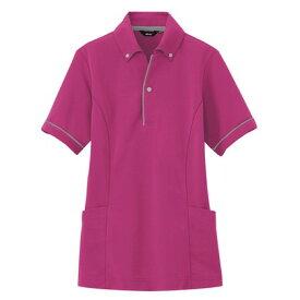 アイトス サイドポケット半袖ポロシャツ(男女兼用) 139ローズ L 7668-139-L