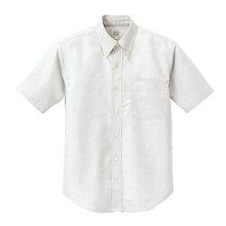 アイトス半袖T/Cオックスボタンダウンシャツ(男女兼用)001ホワイトM7823-001-M
