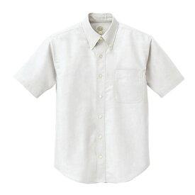 アイトス 半袖T/Cオックスボタンダウンシャツ(男女兼用) 001ホワイト M 7823-001-M