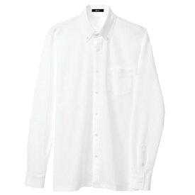 アイトス 長袖ニットボタンダウンシャツ(男女兼用) 001ホワイト M 7853-001-M