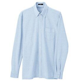 アイトス 長袖ニットボタンダウンシャツ(男女兼用) 007サックス M 7853-007-M