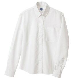 アイトス レディース長袖オックスボタンダウンシャツ 001ホワイト S 7871-001-S