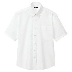 アイトス レディース半袖オックスボタンダウンシャツ 001ホワイト L 7873-001-L