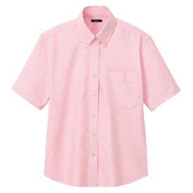 アイトス レディース半袖オックスボタンダウンシャツ 060ピンク LL 7873-060-LL