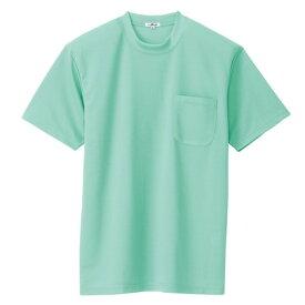 アイトス 吸汗速乾(クールコンフォート)半袖Tシャツ(ポケット付)(男女兼用) 005ミントグリーン LL 10576-005-LL