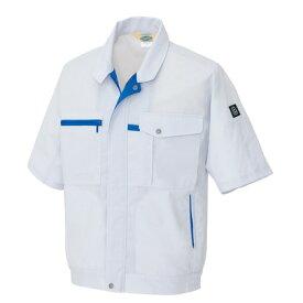 アイトス 半袖ブルゾン(男女兼用) 003シルバーグレー L 5361-003-L