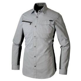 アイトス 長袖シャツ(薄地) 003シルバーグレー S 30635-003-S アジトペンタスストレッチ・作業服・作業着