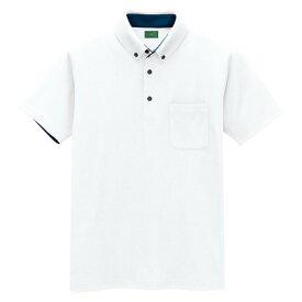 アイトス 制電半袖ポロシャツ(男女兼用) 001ホワイト LL 50006-001-LL