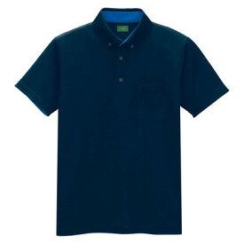 アイトス 制電半袖ポロシャツ(男女兼用) 008ネイビー LL 50006-008-LL