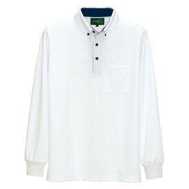 アイトス 制電長袖ポロシャツ(男女兼用) 001ホワイト S 50012-001-S