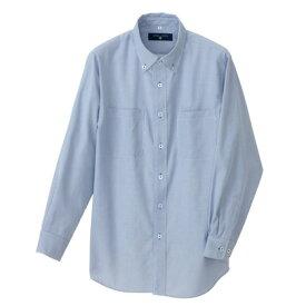 アイトス 長袖ボタンダウンシャツ(コードレーン)(男女兼用) 107サックス M 50401-107-M