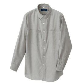 アイトス 長袖ボタンダウンシャツ(コードレーン)(男女兼用) 110ブラック LL 50401-110-LL