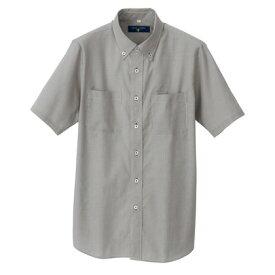アイトス 半袖ボタンダウンシャツ(コードレーン)(男女兼用) 110ブラック LL 50402-110-LL