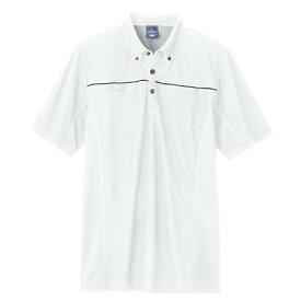 アイトス 半袖ポロシャツ(男女兼用) 001ホワイト M 551044-001-M
