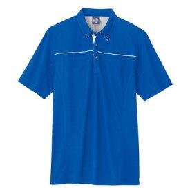 アイトス 半袖ポロシャツ(男女兼用) 006ブルー L 551044-006-L