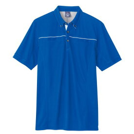 アイトス 半袖ポロシャツ(男女兼用) 006ブルー 4L 551044-006-4L