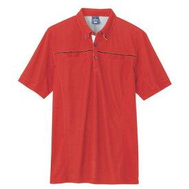 アイトス 半袖ポロシャツ(男女兼用) 009レッド M 551044-009-M