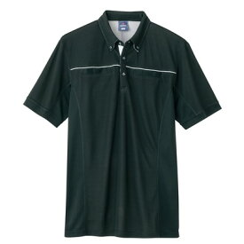 アイトス 半袖ポロシャツ(男女兼用) 010ブラック M 551044-010-M