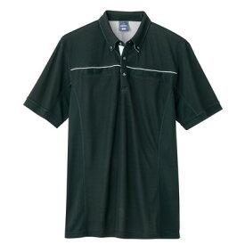 アイトス 半袖ポロシャツ(男女兼用) 010ブラック LL 551044-010-LL